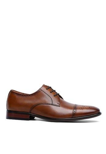 Twenty Eight Shoes Leather Cap Toe Business Shoes 8912-21 65941SH91F1864GS_1