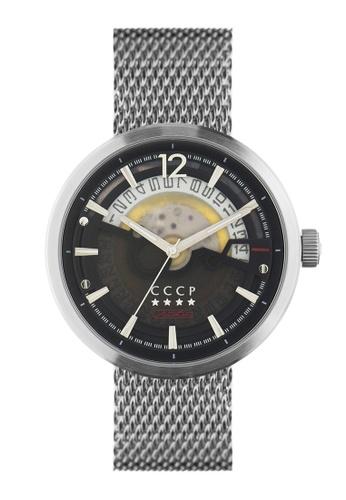 CCCP silver CCCP Men's Mesh Band Watch - CP-7008-22 6FB44AC9F820BFGS_1