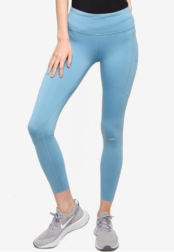 Nike blue Epic Luxe Running Leggings 739A4AA957D106GS_1