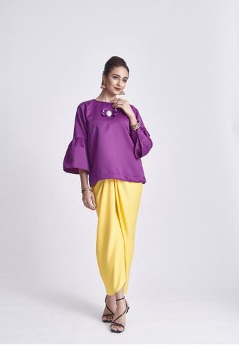 Klambi KL yellow and purple OMNA INDIGO PURPLE SET B5C7CAA3A31ABFGS_1