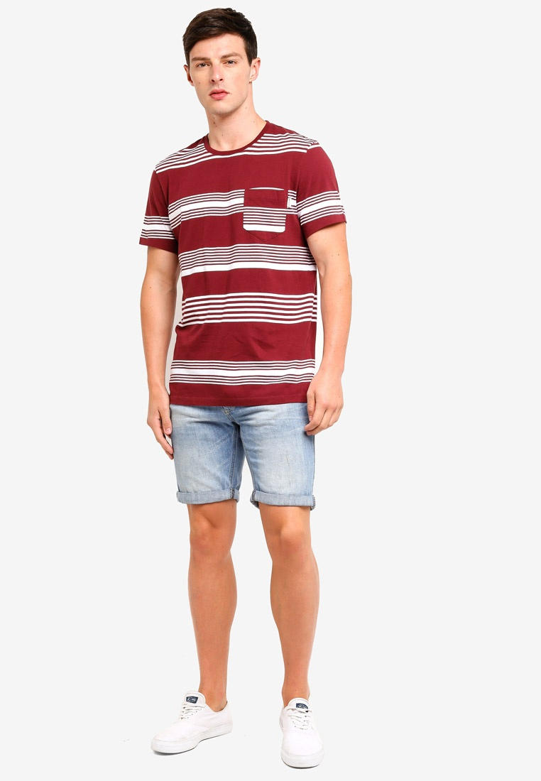 Damson Stripe Wills Barling T Shirt Jack 7n18zf