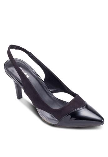 Wesleyesprit cn 尖頭繞踝高跟鞋, 女鞋, 厚底高跟鞋