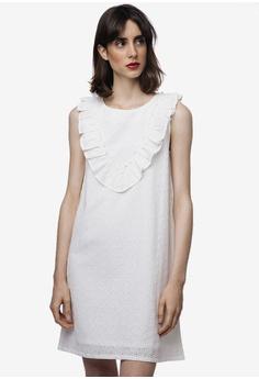 9f7aa8d42e9c Compania Fantastica white White Cotton Ruffle Dress 41DB6AA023FCB3GS_1