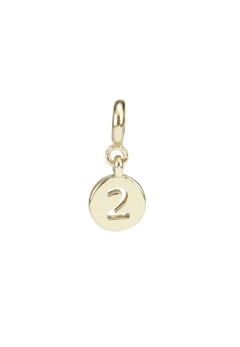 My Flash Trash gold Gold number 2 charm 26A9EAC629B6FDGS_1