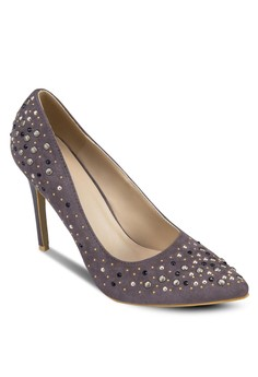 Studded Pointed Toe Pumps