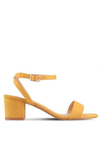 ZALORA yellow Minimalist Stappy Low Heels CD2BDSH67D31A1GS_1