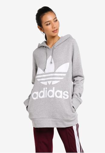 uk availability 92acb dd33d adidas grey adidas originals trefoil hoodie 6A82BAA4E3B01CGS 1
