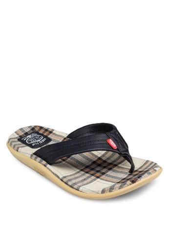 Omedetou 格紋夾腳拖鞋, 鞋, 涼zalora 包包評價鞋及拖鞋
