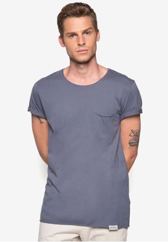 Fader 口袋棉質TEesprit 香港 outletE, 服飾, 素色T恤