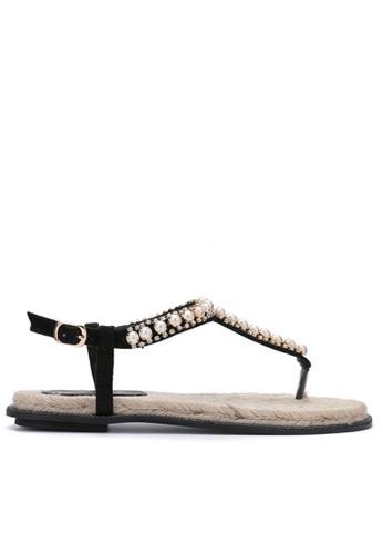Twenty Eight Shoes black Pearls Sandal155 TW446SH74JINHK_1