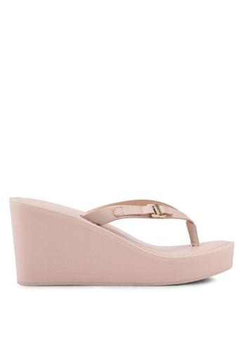 ALDO pink Pryri Wedge Sandals F8E05SHDFC22C0GS_1