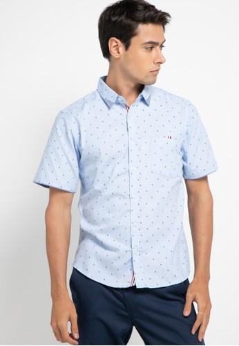 Introspect clothing blue Kemeja Casual 3FAB6AA4786D24GS_1
