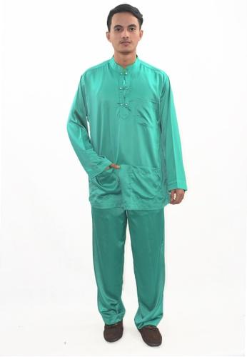 Denai Boutique green Baju Melayu Zeid 8B161AA2305DB7GS_1