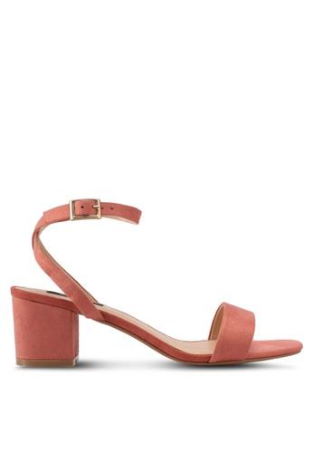 ZALORA pink Minimalist Low Chunky Heel 9DE01SHC93D32EGS_1
