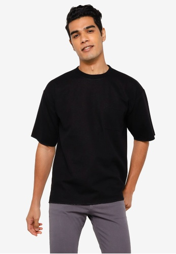 RAGEBLUE black Knit T-Shirt 2B1CBAAD192801GS_1