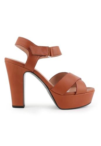 Joy & Peace brown Strappy Platform Heeled Sandals JO458SH85JLYHK_1