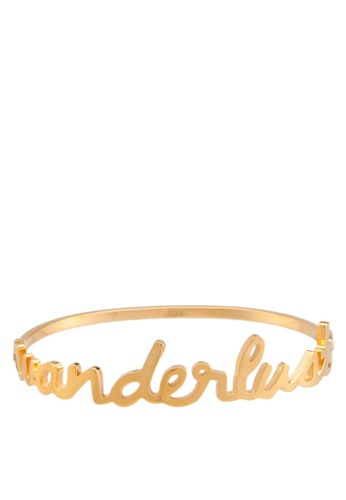 Wanderlust + Co gold Wanderlust Gold Bangle WA415AC41QJQMY_1
