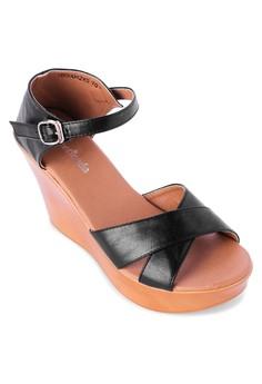 Cross Wedge Sandals
