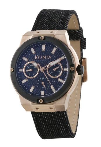 Bonia black Bonia B10473-2532 - Jam Tangan Wanita - Black Rosegold 5DC9BAC338E0E5GS_1