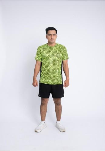 Trijee green Trijee Men Short Sleeve Tee Halu Series 2 Green Volt FC500AAB403463GS_1