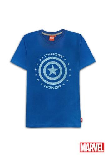 MARVEL blue Marvel Genuine Men Avengers Short Sleeve T Shirt VIM19626-BlUE A2F1FAA53BF9C9GS_1