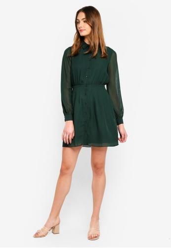 aa6fb7a29350 Buy WAREHOUSE Chiffon Pintuck Shirt Dress Online on ZALORA Singapore