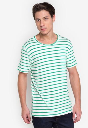 Courier green Stripe T Shirt CO826AA82DQFPH_1