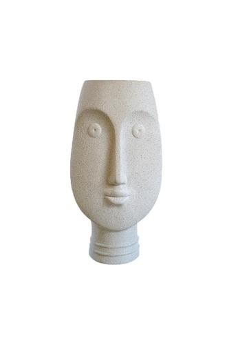 DILAS HOME Minimalist Face Statue Vase (Grey) CCE69HLE4C4EA4GS_1