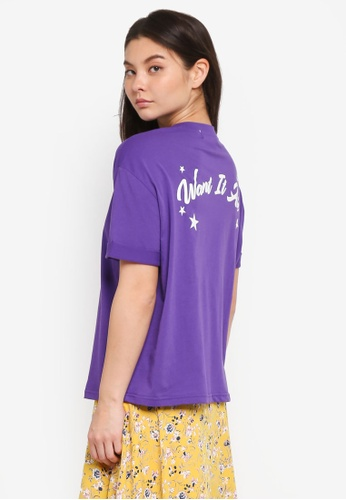 NAIN purple Back Lettering Tee 020FCAA28F8CA0GS_1