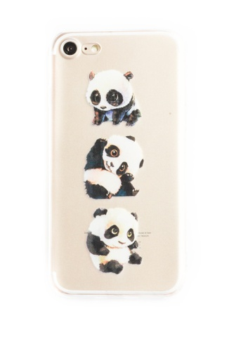 Fancy Cellphone Cases multi Pandas Soft Transparent Case for iPhone 7 FA644AC41XXQPH_1