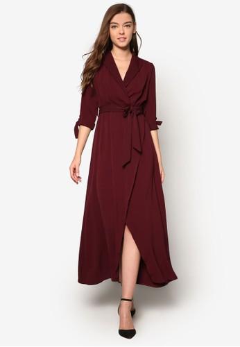 裹飾七分esprit china袖長洋裝, 服飾, 夏日洋裝