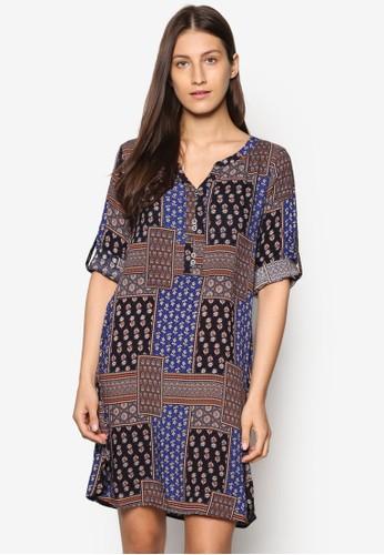 波西米亞風長袖洋裝, esprit女裝服飾, 洋裝