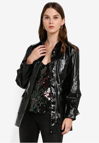 TOPSHOP Black Vinyl Biker Jacket SOLD OUT!!!