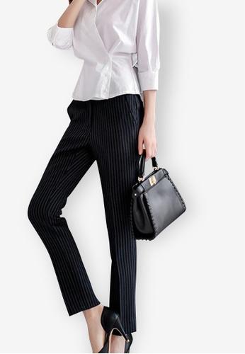 Sunnydaysweety black 2018 New Black Striped Pant F31EDAA26FEB40GS_1