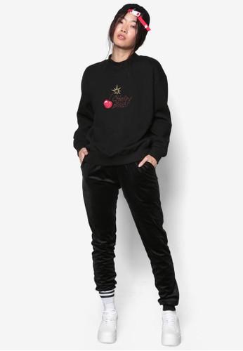 韓系時尚Cherry Bomb 文esprit台灣官網字印花長袖上衣, 服飾, 外套