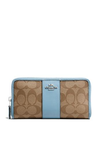 Coach brown Accordion Zip Wallet (cv) 11A66AC6432389GS_1