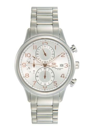 Roscani silver Roscani Katherine 963 (Chronograph + WR 10ATM) Stainless Steel White Bracelet Men Watch 9530EACAB42DBCGS_1