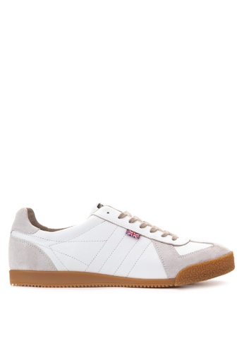 Gola white Harrier 77 Sneakers GO513SH57TQKPH_1
