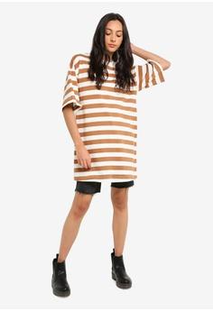 d995e2ac72046 TOPSHOP Stripe Boyfriend T-Shirt S  43.90. Sizes XS S S M M L