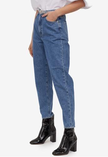 H&M blue Mom Loose-Fit Ultra High Jeans 59508AAFA3F304GS_1
