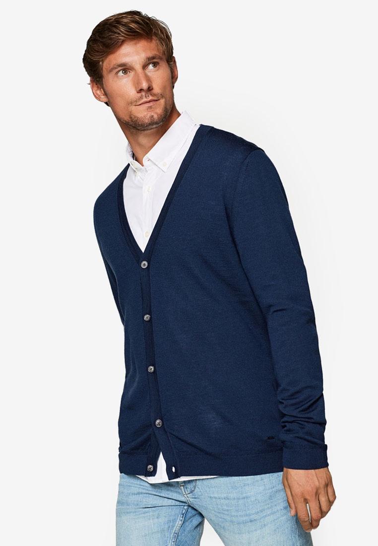 Navy Cardigan Wool Wool ESPRIT Wool Cardigan ESPRIT Navy Cardigan xwa8qBgB6