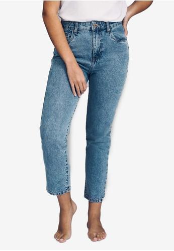 Cotton On blue High Rise Mom Jeans 4532DAAEEBC8F8GS_1