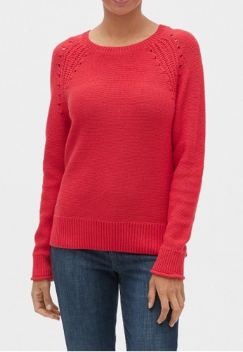 Gap red Crewneck Pullover Sweater 72793AA6F031F2GS_1