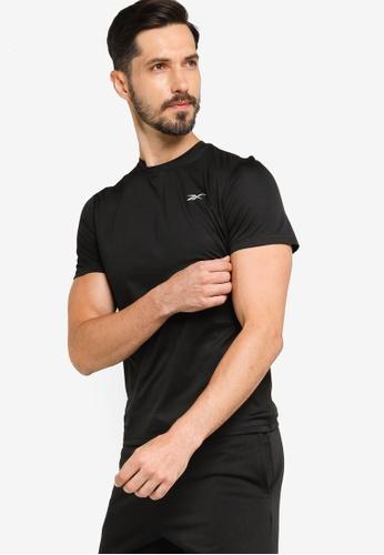 Reebok 黑色 慢跑 Essentials T-襯衫 A4F97AAA4B4B16GS_1