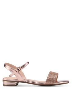 85745b55970c9e prettyFIT gold Crystal Embellished Flat Sandals B2149SHFB64E3CGS 1