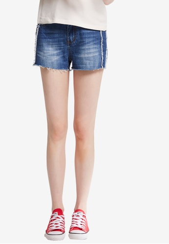 Hopeshow blue Denim Shorts 21F4EAA89F32DBGS_1