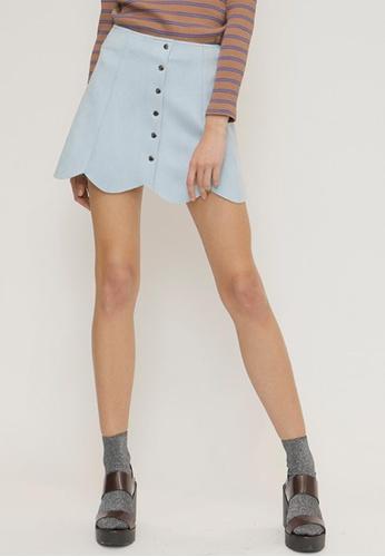 OUTSTANDING ORDINARY blue Since Skirt OU203AA48NYDSG_1