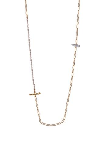 SKEDA gold Pearl Link Necklace 35315AC1CD4BAFGS_1