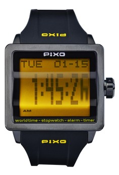 Digital Flip Watch PX-1JSBBK-21