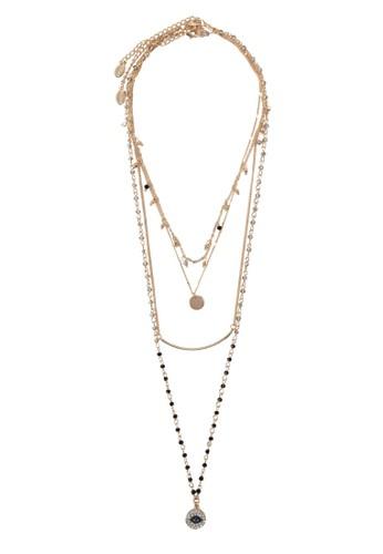 Dwiradieesprit 手錶n 串珠吊飾多股式項鍊, 飾品配件, 飾品配件